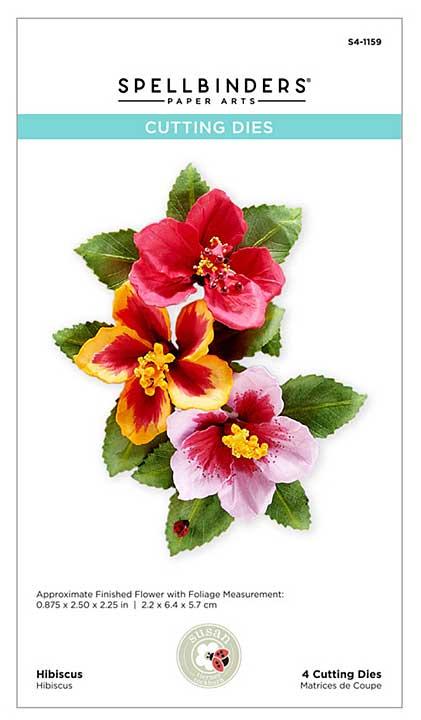 SO: Spellbinders Tropical Getaway - Hibiscus by Susan Tierney-Cockburn