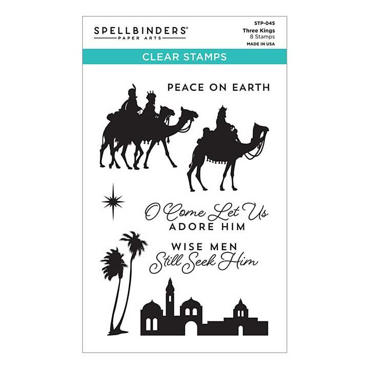 Spellbinders  Etched Dies - Three Kings Stamp Set (Christmas Traditions)