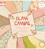 First Edition Blank Canvas 8x 8 Papers with fabric textured paper and glitter effects
