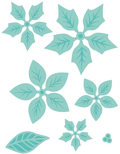 Kaisercraft Decorative Die - Layered Poinsettia