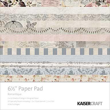 SO: Kaisercraft Paper Pad 6.5x6.5 - Romantique (40pk)
