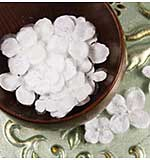 Pearl Penache Collection - Fabric Flower Embellishments - Snowbird