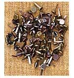 SO: Sunrise Sunset Mechanicals Metal Vintage Trinkets - Mini Brads Assorted Screws, etc. 100pk