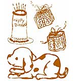 Prima Clear Acrylic Stamp Set - Celebrate Jack and Jill Collection - Mix 8