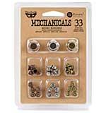 Finnabair Mechanicals Metal Embellishments - Mini Knobs 33pk