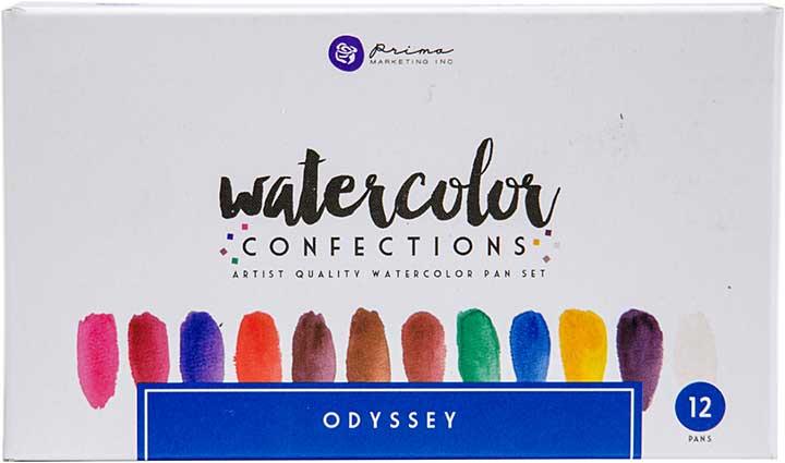SO: Prima Watercolor Confections Watercolor Pans 12pk - Odyssey