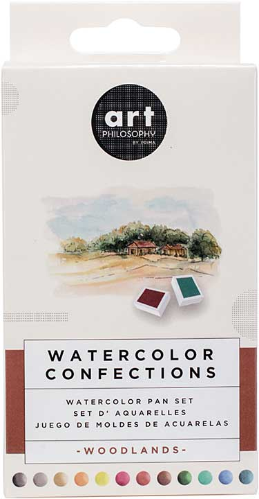 SO: Prima Watercolor Confections Watercolor Pans 12pk - Woodlands