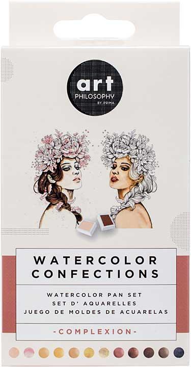 SO: Prima Watercolor Confections Watercolor Pans 12pk - Complexion