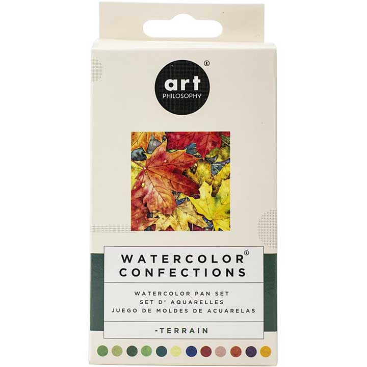 Prima Watercolor Confections Watercolor Pans 12pk - Terrain