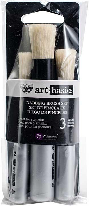 Finnabair Art Basics Dabbing Brushes 3pk (0.25, 0.5, 0.625)