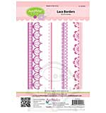 JustRite Cling Stamp set - Lace Borders