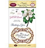 JustRite Papercraft Clear Stamp Set 4X6 - Magnolia Vintage Labels Seven 11pc