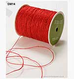 May Arts Jute String Burlap - Red