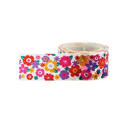 SO: Little B Decorative Paper Tape 25mm x 15m - Colourful Mini Flowers