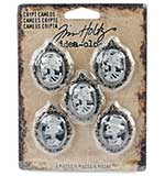 SO: Idea-Ology Crypt Cameos, Antique Nickel (5pk)