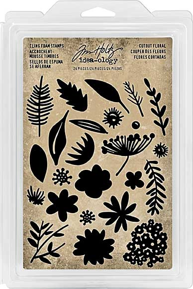 SO: Idea-Ology Cling Foam Stamps - Cutout Floral (24pk)