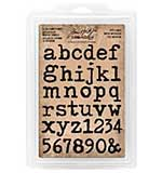 Tim Holtz Ideaology - Cling Foam Stamps - Type Face Lowercase Alpha
