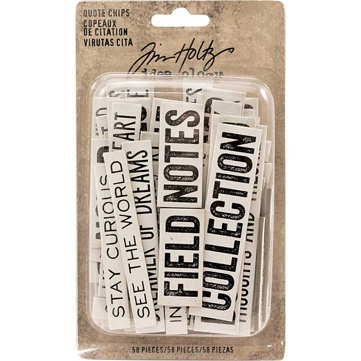 SO: Idea-Ology Chipboard Quote Chips - Word and Phrases (58pk)