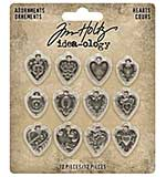 SO: Idea-Ology Metal Adornments 12pk - Hearts
