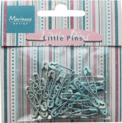 Marianne Design - Decoration - Mini Pins - Light Blue & Blue