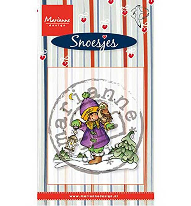 Marianne Design Clear Stamp - Snoes and Owl