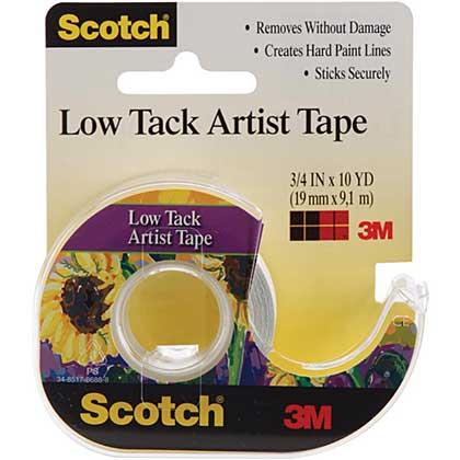 Scotch Low Tack Artist Tape (19mm x 9.1m)