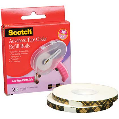 SO: Scotch Advanced Tape Glider Acid-Free Refills (2pk for use In 085)