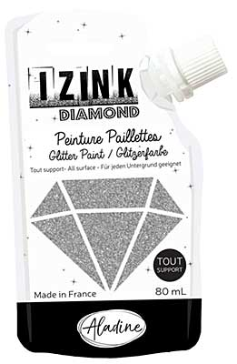Izink Diamond Paint - Argente (Silver) 80ml