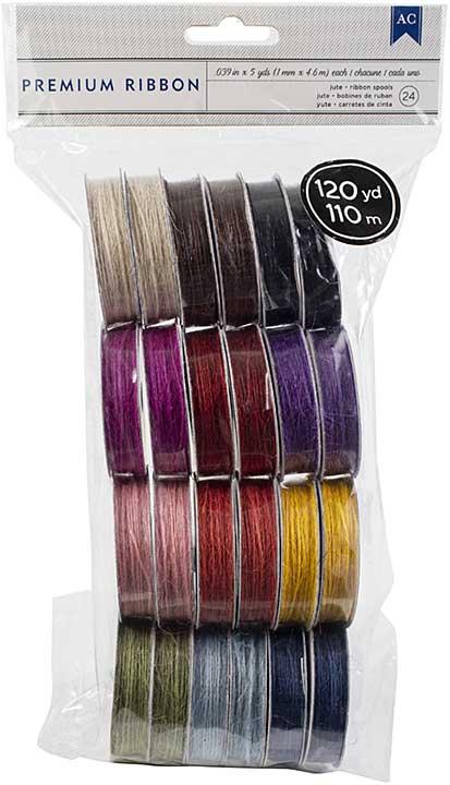 American Crafts Ribbon Value Pack 24pk - Jute