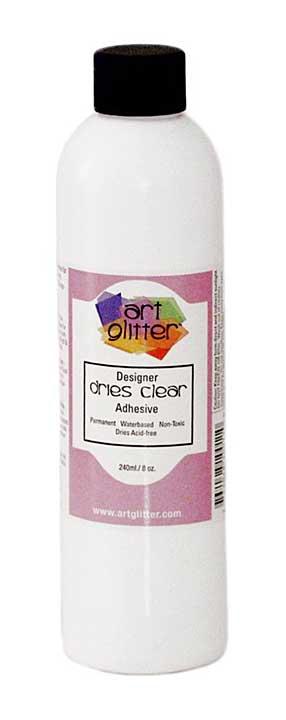 Art Glitter Glue Dries Clear Adhesive Refill 240ml 8oz