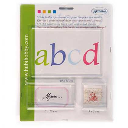 Artemio Set of 6 Acrylic Stamping Blocks