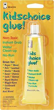 Beacons Kids Choice Glue Instant Grab - 2oz