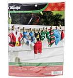 SO: Bucilla Felt Garland Applique Kit - Santas Laundry