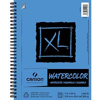 Canson XL Watercolor Pad 7 x 10, 30 Sheets