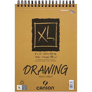 Canson XL Recycled Drawing Paper Pad - 60 Sheets 70lb (9x12)