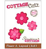 CottageCutz Die - Layered Flowers #2 Made Easy