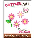 CottageCutz Die - Layered Flowers #3 Made Easy