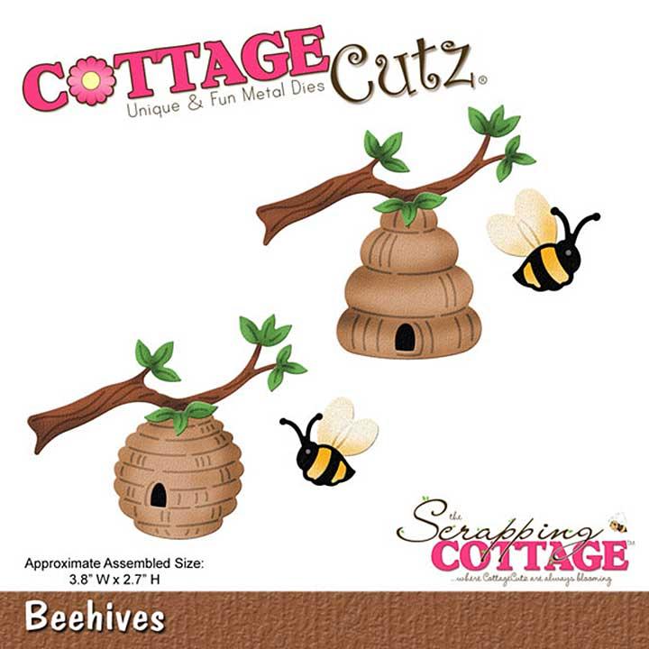 Cottage Cutz - 4x4 Cutting Die - Beehives