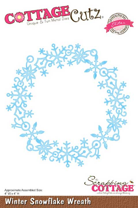 Cottage Cutz Elites Die - Winter Snowflake Wreath