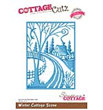 Cottage Cutz Elites Die - Winter Cottage Scene
