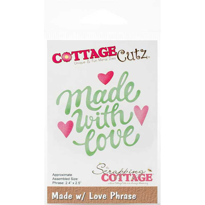 SO: CottageCutz Dies - Made with Love Phrase