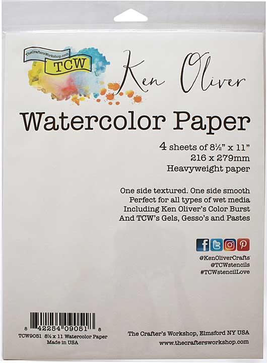 "Ken Oliver Watercolor Paper Pack 8.5\""X11\"" 4pk"