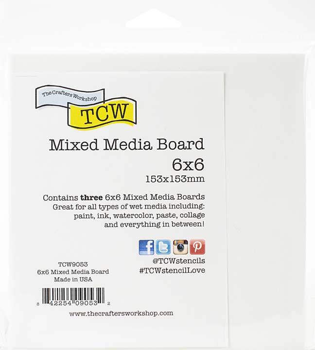 Crafter\'s Workshop Mixed Media Board 6x6 3pk