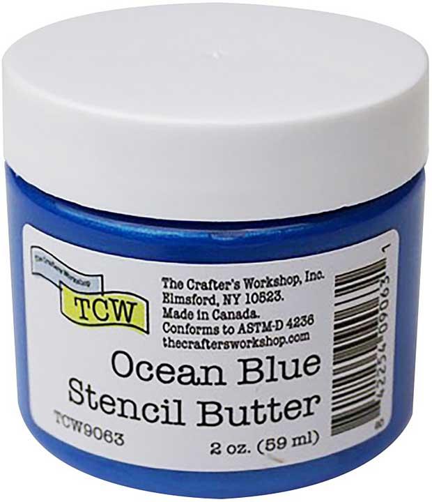Crafter\'s Workshop Stencil Butter 2oz - Ocean Blue