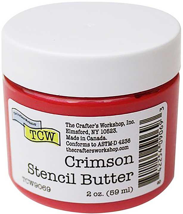 Crafter\'s Workshop Stencil Butter 2oz - Crimson