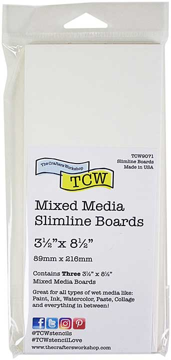 Crafter\'s Workshop Mixed Media Board 3.5x8.5 3pk