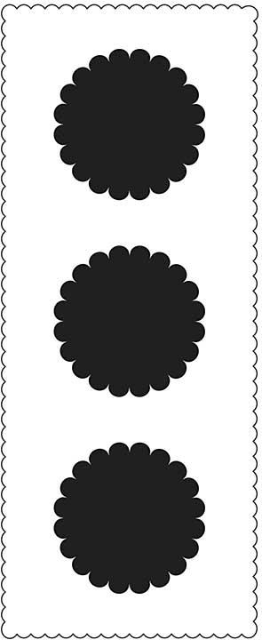 "Crafter\'s Workshop Slimline Stencil 4\""x9\"" - Scalloped Circles"