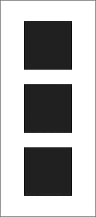 "Crafter\'s Workshop Slimline Stencil 4\""x9\"" - Triple Squares"