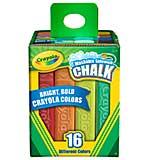 SO: Crayola Washable Sidewalk Chalk - Assorted Colors 16pk