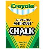 Crayola Anti-Dust Chalk - White 12pk